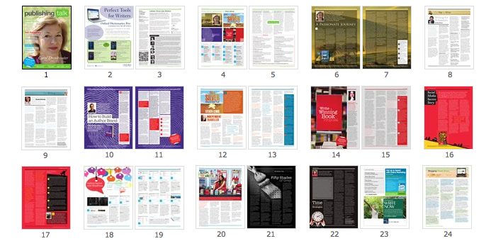 Publishing Talk Magazine issue 2 - page previews