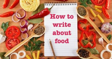 How to write about food