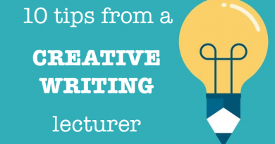 10 tips from a creative writing lecturer