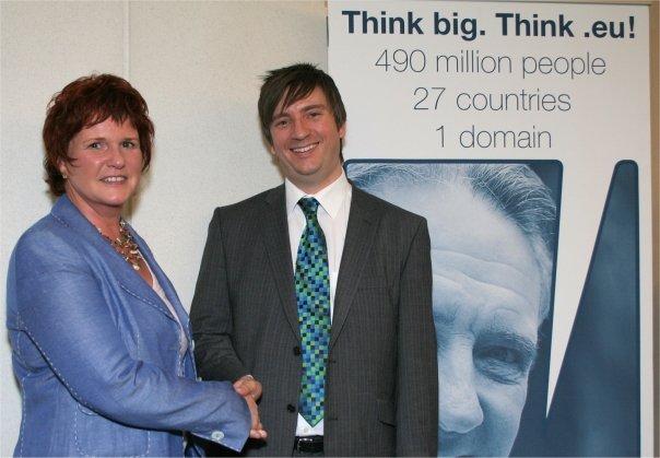 Jon Reed and Sharon Bowles MEP