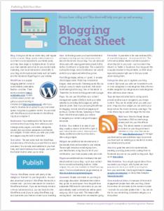 Cheat Sheet - Blogging