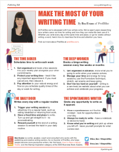 Make the Most of Your Writing Time - by Bec Evans