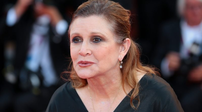Carrie Fisher at the Venice International Film Festival, 2012
